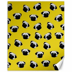 Pug Dog Pattern Canvas 16  X 20   by Valentinaart