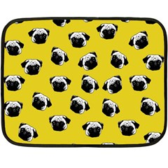 Pug Dog Pattern Fleece Blanket (mini) by Valentinaart