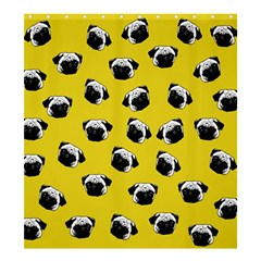 Pug Dog Pattern Shower Curtain 66  X 72  (large)  by Valentinaart