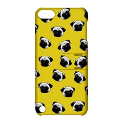 Pug Dog Pattern Apple Ipod Touch 5 Hardshell Case With Stand by Valentinaart