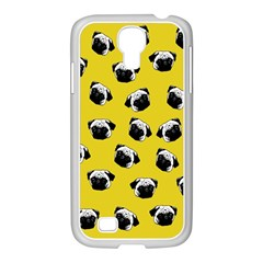 Pug Dog Pattern Samsung Galaxy S4 I9500/ I9505 Case (white) by Valentinaart