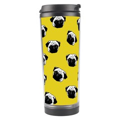 Pug Dog Pattern Travel Tumbler by Valentinaart