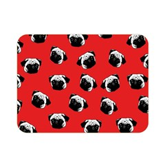 Pug Dog Pattern Double Sided Flano Blanket (mini)  by Valentinaart