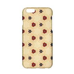 Orange Flowers Pattern   Apple Iphone 6/6s Black Enamel Case by LalyLauraFLM