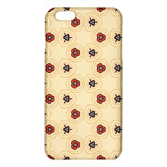 Orange Flowers Pattern   Iphone 6/6s Tpu Case by LalyLauraFLM