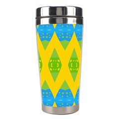Rhombus Pattern           Stainless Steel Travel Tumbler by LalyLauraFLM