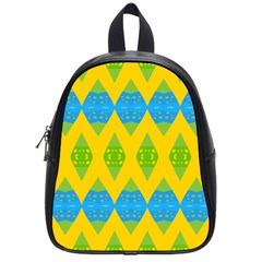 Rhombus Pattern           School Bag (small) by LalyLauraFLM