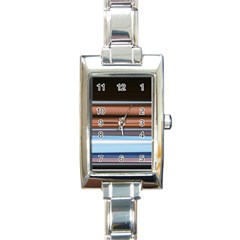 Color Screen Grinding Rectangle Italian Charm Watch