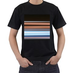 Color Screen Grinding Men s T Shirt (black) (two Sided)