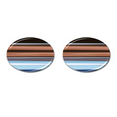 Color Screen Grinding Cufflinks (oval) by Nexatart