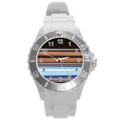 Color Screen Grinding Round Plastic Sport Watch (l)