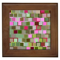 Color Square Tiles Random Effect Framed Tiles