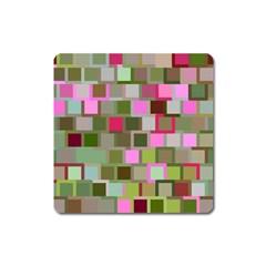 Color Square Tiles Random Effect Square Magnet