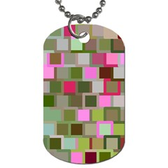 Color Square Tiles Random Effect Dog Tag (two Sides) by Nexatart