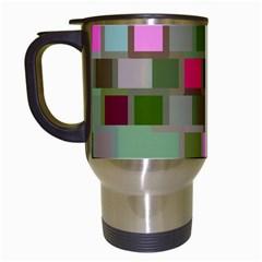 Color Square Tiles Random Effect Travel Mugs (white) by Nexatart