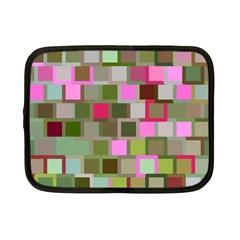 Color Square Tiles Random Effect Netbook Case (small)  by Nexatart
