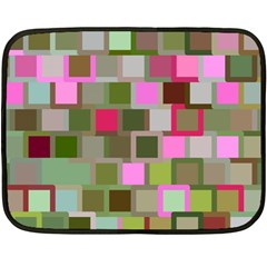 Color Square Tiles Random Effect Double Sided Fleece Blanket (mini)  by Nexatart