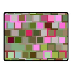Color Square Tiles Random Effect Fleece Blanket (small)