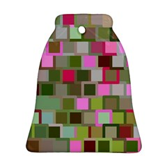 Color Square Tiles Random Effect Bell Ornament (two Sides) by Nexatart
