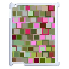 Color Square Tiles Random Effect Apple Ipad 2 Case (white)