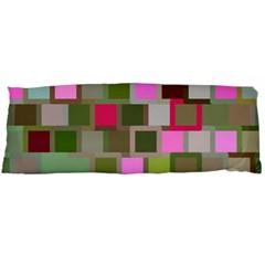 Color Square Tiles Random Effect Body Pillow Case Dakimakura (two Sides)
