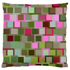 Color Square Tiles Random Effect Large Cushion Case (two Sides)