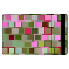 Color Square Tiles Random Effect Apple Ipad 2 Flip Case