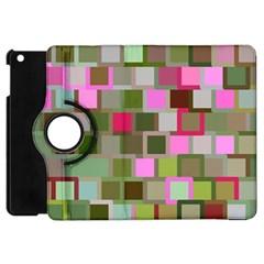 Color Square Tiles Random Effect Apple Ipad Mini Flip 360 Case by Nexatart