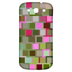Color Square Tiles Random Effect Samsung Galaxy S3 S Iii Classic Hardshell Back Case by Nexatart