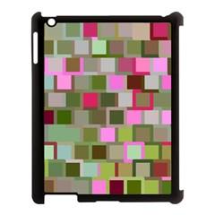 Color Square Tiles Random Effect Apple Ipad 3/4 Case (black) by Nexatart