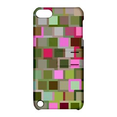 Color Square Tiles Random Effect Apple Ipod Touch 5 Hardshell Case With Stand by Nexatart