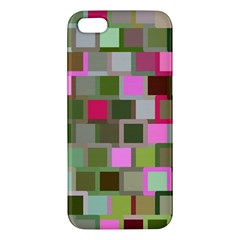 Color Square Tiles Random Effect Apple Iphone 5 Premium Hardshell Case
