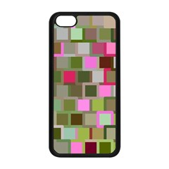 Color Square Tiles Random Effect Apple Iphone 5c Seamless Case (black)