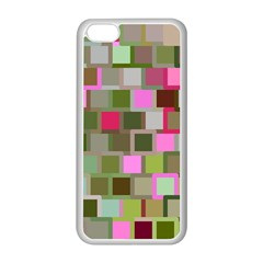 Color Square Tiles Random Effect Apple Iphone 5c Seamless Case (white) by Nexatart