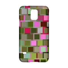 Color Square Tiles Random Effect Samsung Galaxy S5 Hardshell Case