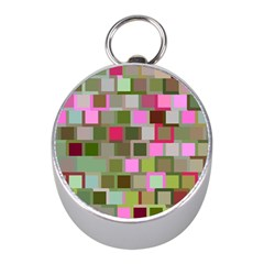 Color Square Tiles Random Effect Mini Silver Compasses by Nexatart
