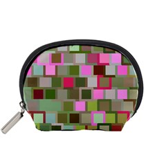 Color Square Tiles Random Effect Accessory Pouches (small)  by Nexatart