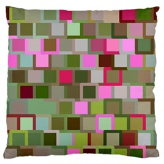 Color Square Tiles Random Effect Large Flano Cushion Case (two Sides) by Nexatart