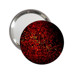 Red Particles Background 2 25  Handbag Mirrors by Nexatart