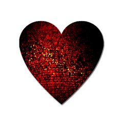 Red Particles Background Heart Magnet by Nexatart