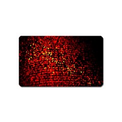 Red Particles Background Magnet (name Card) by Nexatart