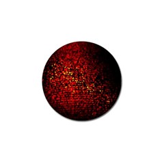Red Particles Background Golf Ball Marker (10 Pack)