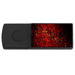 Red Particles Background Usb Flash Drive Rectangular (4 Gb)