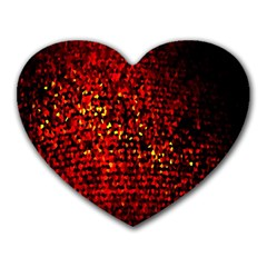 Red Particles Background Heart Mousepads by Nexatart