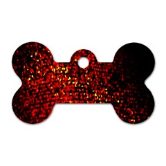 Red Particles Background Dog Tag Bone (one Side) by Nexatart