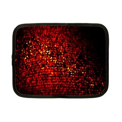 Red Particles Background Netbook Case (small)