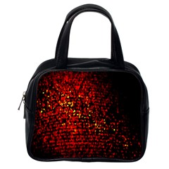 Red Particles Background Classic Handbags (one Side)