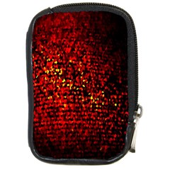 Red Particles Background Compact Camera Cases