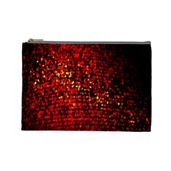 Red Particles Background Cosmetic Bag (large)  by Nexatart