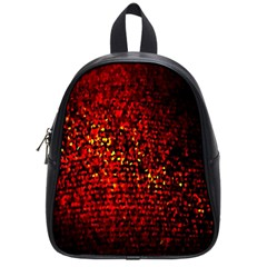 Red Particles Background School Bags (small)  by Nexatart